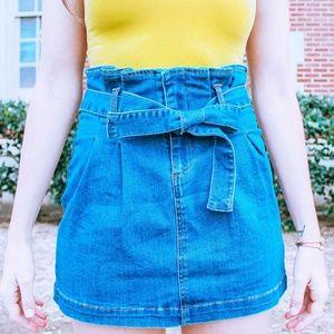 Dresses & Skirts - Oops... I Did It Again Paperbag Denim Skirt